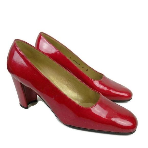 e344e44ce Stuart Weitzman Shoes | Block Heel Pumps Red Size 9 | Poshmark